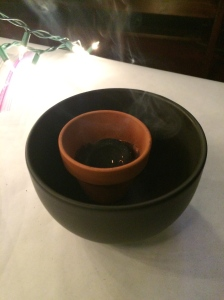 Place charcoal in the bowl.