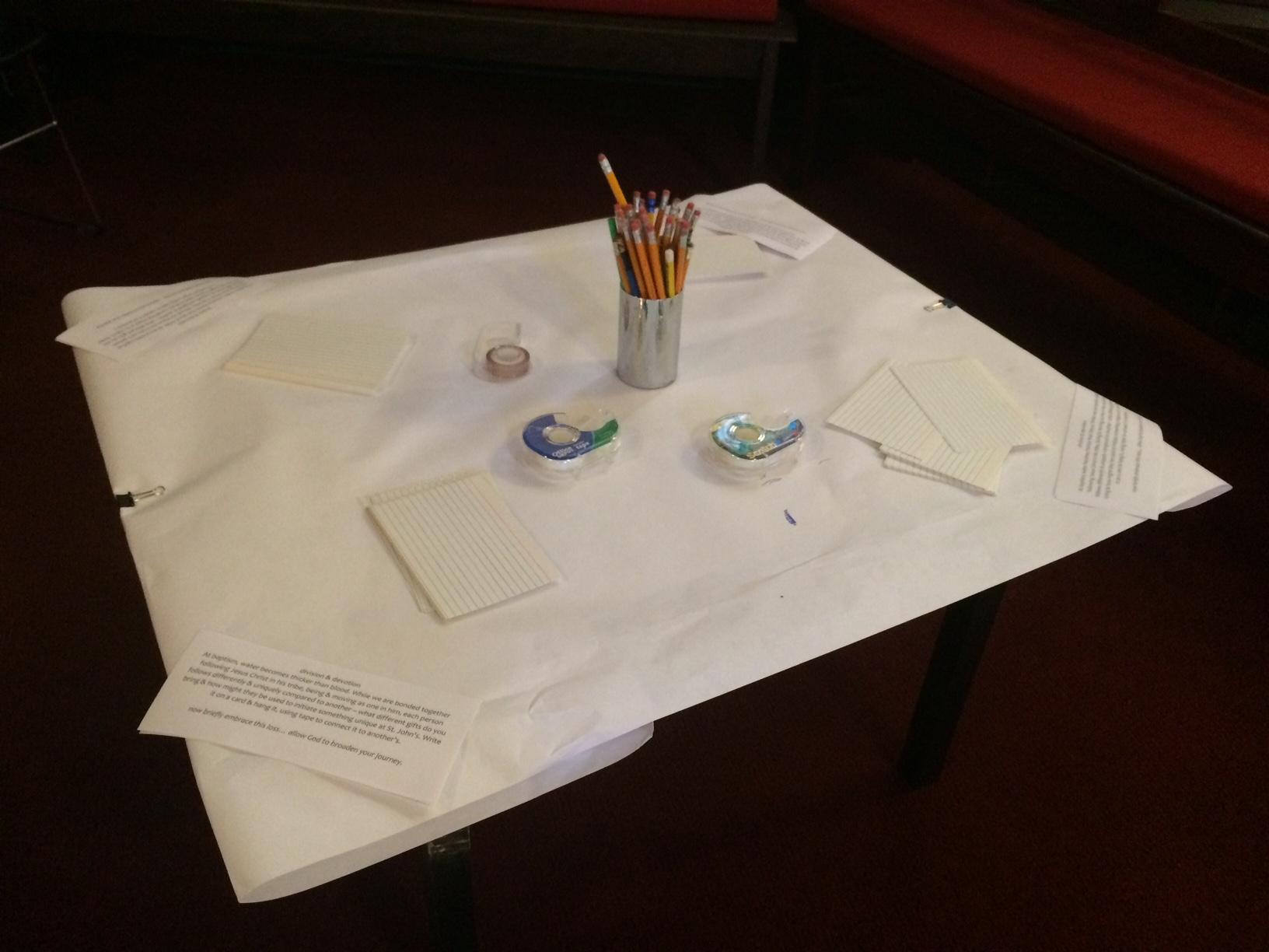 Interactive Prayer Stations on Easter & Doubt (Matt 28