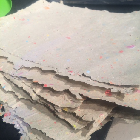The seeded paper is fully dried.