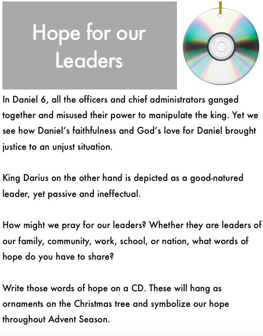Interactive Prayer Stations on Advent and Daniel (Daniel 6